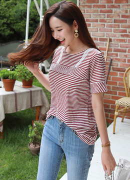 Mixed Direction Stripe T-shirt, Styleonme