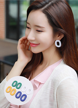Color Hoop Earrings, Styleonme
