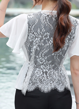 Back Lace Detail 2way Cardigan, Styleonme