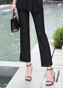 High Tension Side Slit Slacks, Styleonme