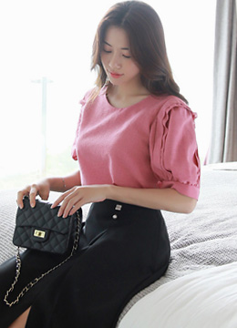 Layered Puff Sleeve Blouse, Styleonme