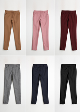 6Colors Dailywear Slim Fit Slacks, Styleonme