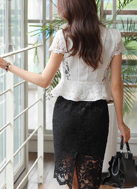 Floral Lace Cap Sleeve Jacket, Styleonme