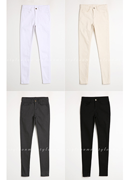 Perfect Fit Cotton Skinny Pants, Styleonme