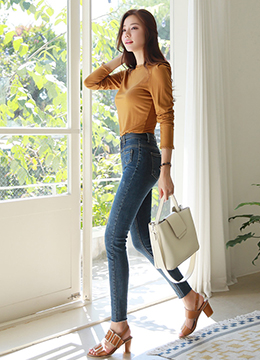 Mini Pocket Skinny Jeans, Styleonme