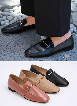 Classic Buckle Loafers, Styleonme