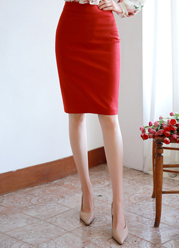 Simple Slim Fit H-Line Skirt, Styleonme