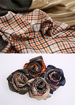 Mix Pattern Check Print Scarf, Styleonme