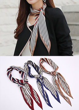 Color Mix Stripe Scarf, Styleonme