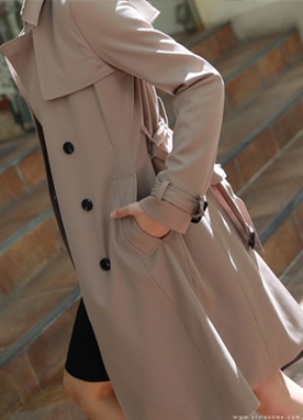 Storm Flap Slim Fit Trench Coat, Styleonme
