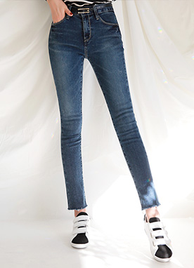 Basic Slim Fit Blue Jeans, Styleonme