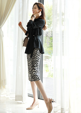 Leopard Print Pencil Skirt, Styleonme