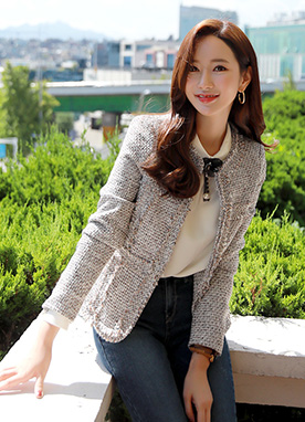 Everyday Wear Tweed Jacket, Styleonme