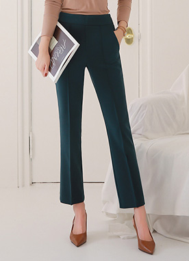 Long Leg Pintuck Slacks, Styleonme