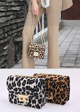 Leopard Print Mini Chain Bag, Styleonme