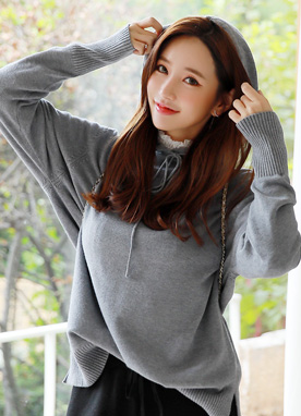 Sofit Knit Hoodie Tee, Styleonme