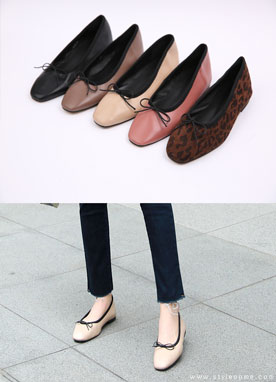 Ribbon Tie Flat Shoes, Styleonme