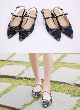Luxury Floral Check Print Slingbacks, Styleonme