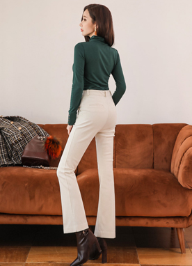 Corduroy Boot-Cut Pants, Styleonme
