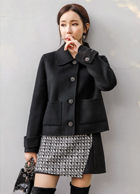 Wool Handmade Short Jacket, Styleonme