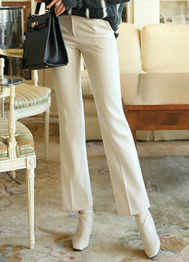 Long Leg Straight Fit Slacks, Styleonme
