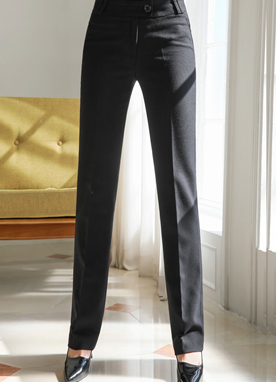 Basic Slim Fit Slacks, Styleonme