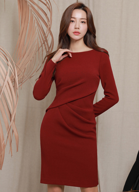 Glam Shirred Bodycon Dress, Styleonme