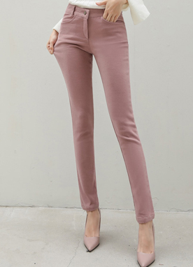 Long and Slim Soft Brushed Pants, Styleonme