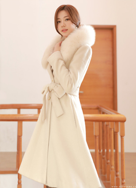 Luxury Wool Blend Flared Coat, Styleonme