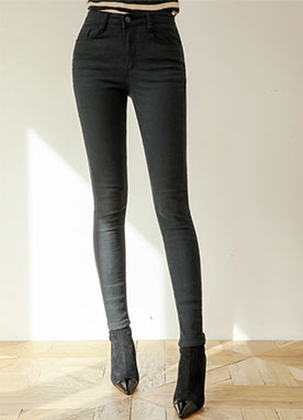 Basic One Button Skinny Pants, Styleonme
