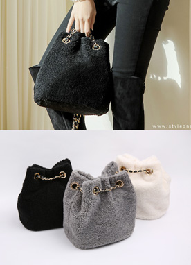 Wool Bucket Bag, Styleonme