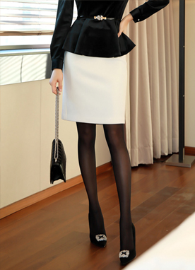 Brushed Lining H-Line Skirt, Styleonme