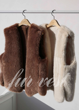 Faux Fur Belt Set Vest, Styleonme