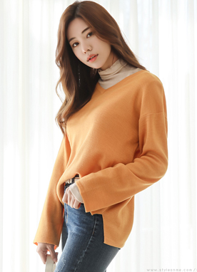 (1+1) 6Colors Basic V-Neck Knit Top, Styleonme