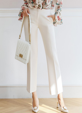 Luxury Semi-Boot Cut Slacks, Styleonme