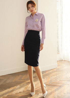 Must-have High Waisted H-Line Skirt, Styleonme