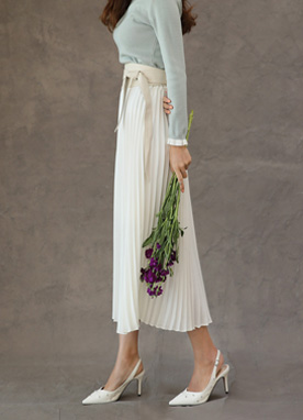 Pleated Maxi Skirt, Styleonme