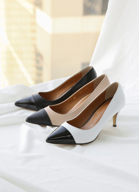 Two Color Stiletto Heels, Styleonme
