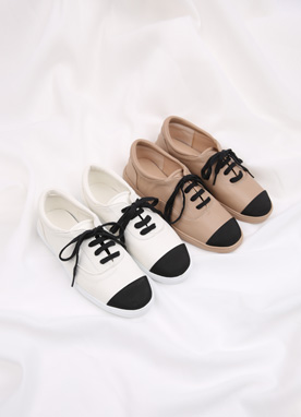 Two Color Basic Sneakers, Styleonme