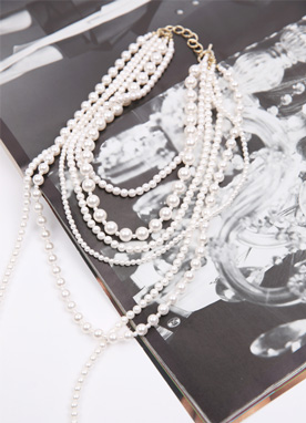 Layered Pearl Necklace, Styleonme