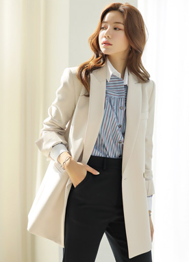 Soft Color Tailored Jacket, Styleonme