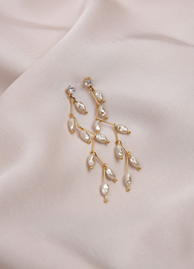 Pearl Drop Earrings, Styleonme