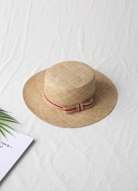 Red Ribbon Straw Hat, Styleonme