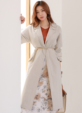 Loose Fit Tailored Long Jacket, Styleonme