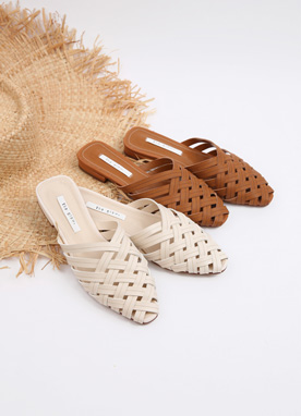 Cross Weave Slipper Shoes, Styleonme