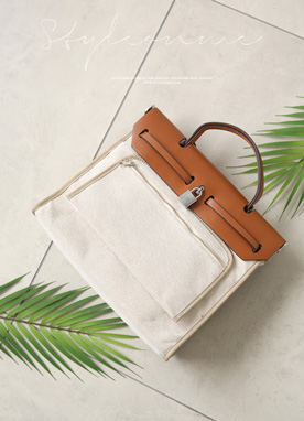 Canvas Squared Bag, Styleonme