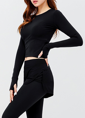 Long Sleeve Cropped Top, Styleonme