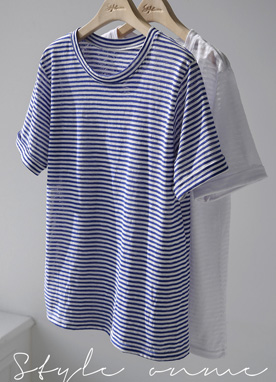 Stripe Short Sleeve Tee, Styleonme