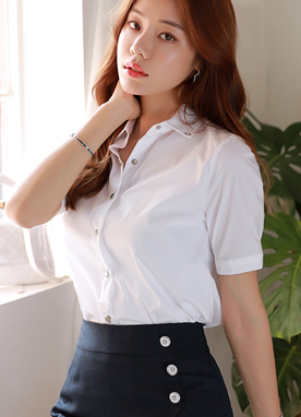 Dailywear Short Sleeve Collared Shirt, Styleonme
