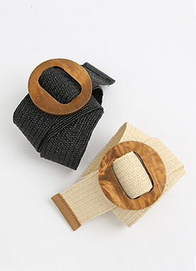 Wood Buckle Belt, Styleonme